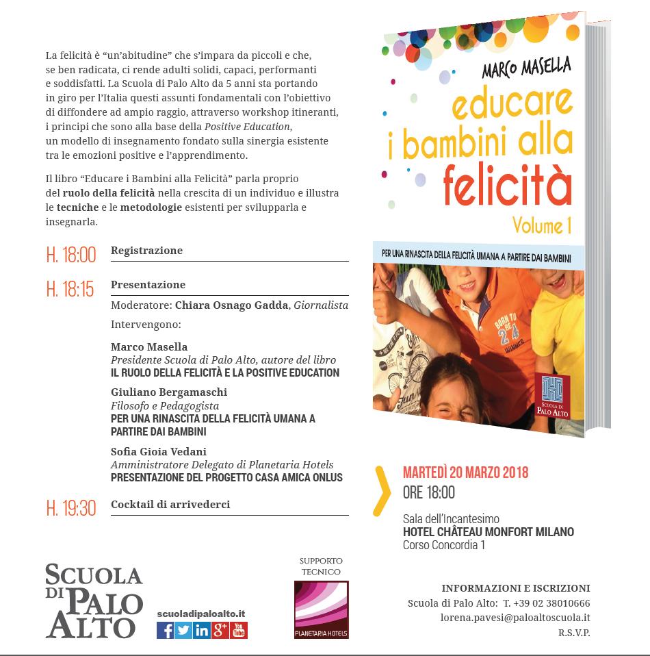 presentazione del libro educare i bambini alla felicità